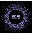 Violet Bright New Year 2016 Background vector image