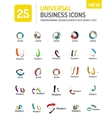Abstract business icons vector image vector image