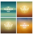 Summer Holidays Retro Typography Labels or Badges vector image vector image