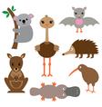 Australian animals set vector image