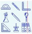 Black school goods icons Part 3 vector image