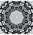 Black stylized frame over symmetry gray wallpaper vector image