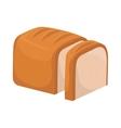 bread white loaf slice icon graphic vector image