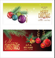 christmas background red balls with decorations 4 vector image