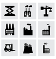 factory icons set vector image