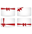 Gift Card Template Collection Set with Silk Red vector image
