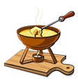 hot fondue vector image
