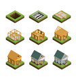 house construction icons set vector image