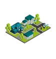 Isometric Town Concept vector image