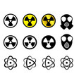 set of nuclear icons in many style vector image