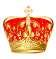 tsarist gold crown with pearl and pattern vector image