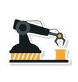 Robot arm of Under construction concept vector image