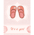 Baby shower withShoes vector image vector image