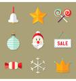 9 Christmas Icons Set 1 vector image