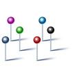 Shiny pins vector image