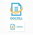 Document file logo or icon vector image