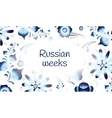 Russian weeks gzhel pattern banner vector image