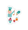 Set of paper stickers on a white background sweet vector image