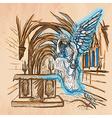 Angel - An hand drawn vector image