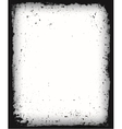 Black grunge frame isolated vector image