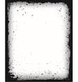 Black grunge frame isolated vector image