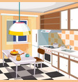 cartoon of a kitchen interior vector image
