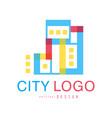 city logo original design abstract city building vector image