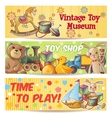 Kids Toys Banner Set vector image