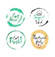 natural food label set vector image