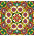 ethnic bright mandala style flowers pattern vector image vector image