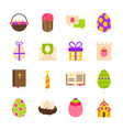 happy easter holiday objects vector image
