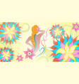 lotus beauty spa logo vector image