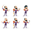actor theater stage man characters medieval vector image vector image