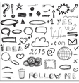 Set of sketched social and digital icons vector image