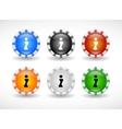 website design symbols vector image vector image
