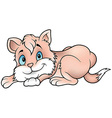 Laying Pink Cat vector image vector image