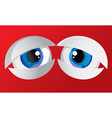 tired bulging eyes vector image vector image