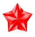 Shiny RED star 05 vector image