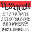 alphabet font template vector image