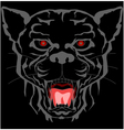 Black panther head tattoo tribal vector image