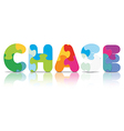 CHASE written with alphabet puzzle vector image