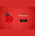 happy valentines sale background modern abstract vector image
