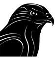 Hawk Eagle Head Silhouette vector image