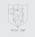 lion logo in line design style vector image