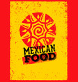 mexican food logo design template vector image