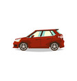 red car hatchback side view transport for travel vector image