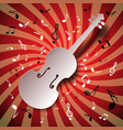 retro music background with violin and notes vector image