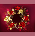 rhombus with roses vector image
