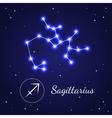 Sagittariuseps Zodiac Sign Stars on the Cosmic Sky vector image
