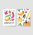 set of templates for summer cards hand drawn vector image